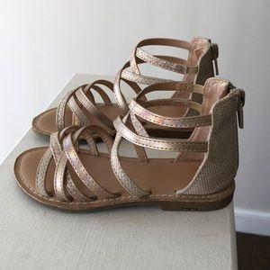KIDS Rosegold Glitter Sandals